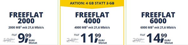 Freenetmobile Allnet Flat Handytarife
