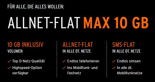 otelo allnet-Flat MAX 10 GB