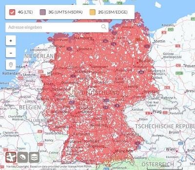 Vodafone Netzabdeckung